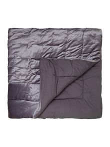 Collette velvet dark grey bedspread