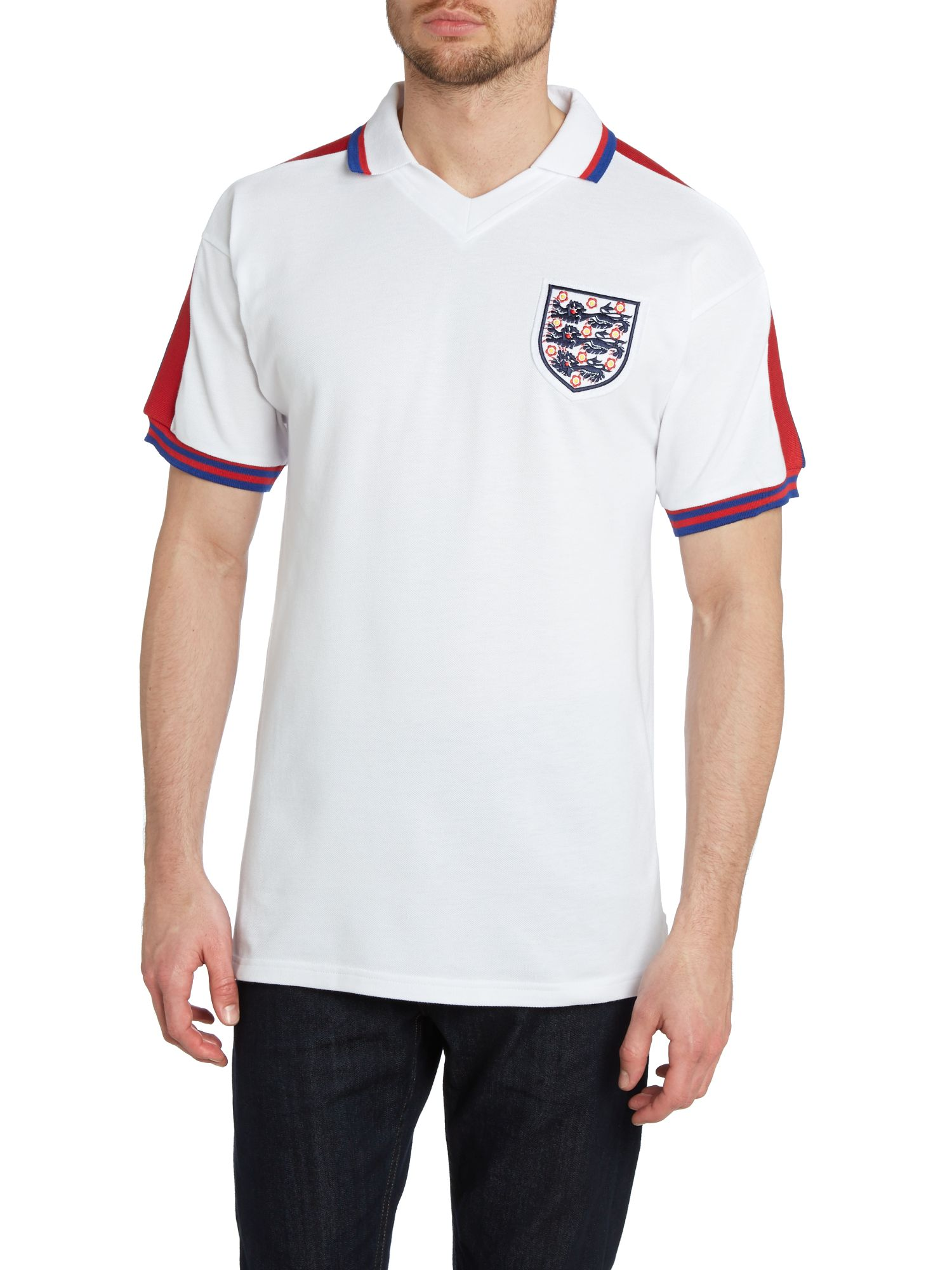 Short sleeve England 1976 home retro jersey