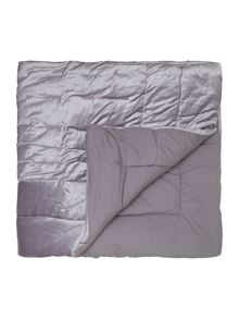 Collette velvet mid grey bedspread