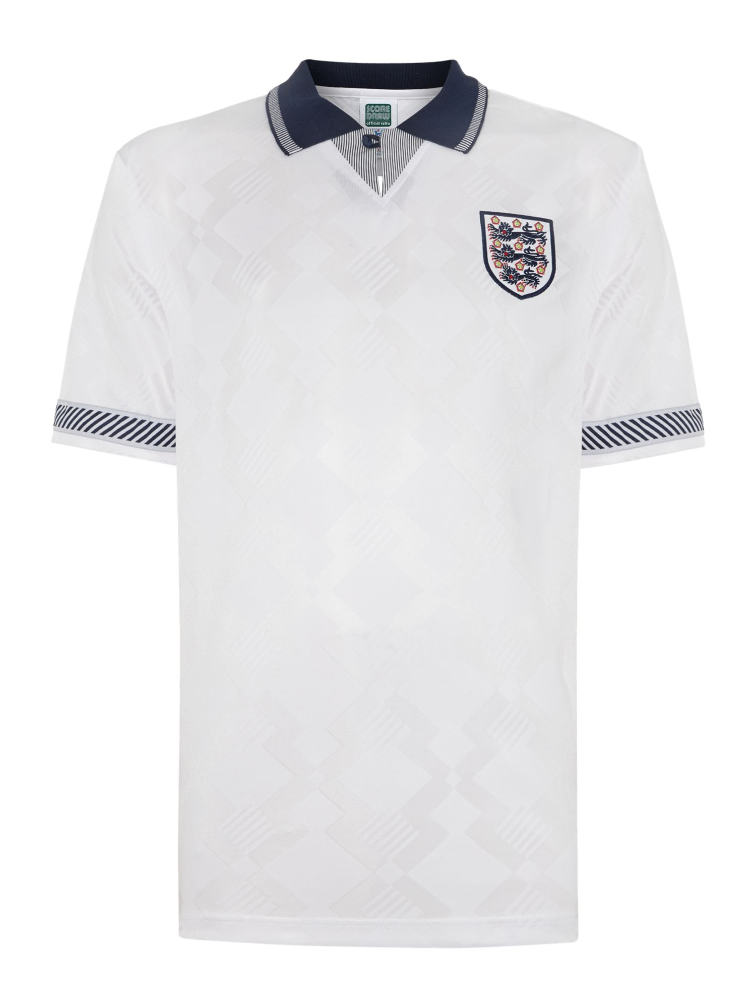 Short sleeve England 1990 home retro jersey