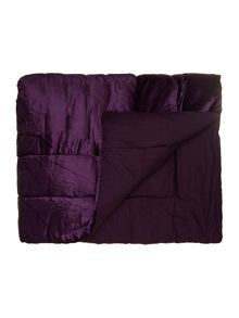 Collette velvet purple bedspread