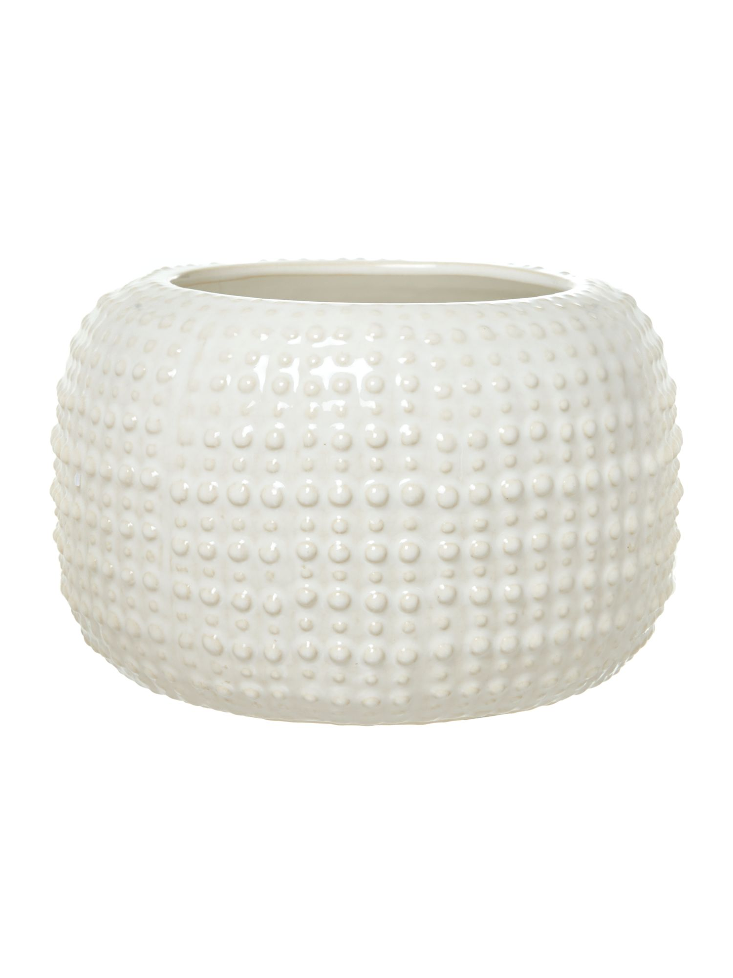 Alberte ceramic Vase white in