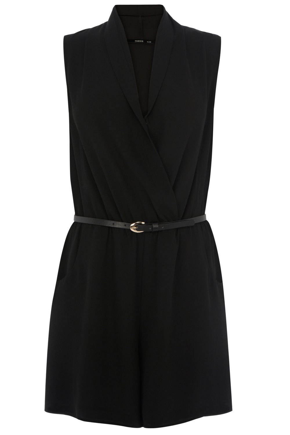 Cowl wrap playsuit