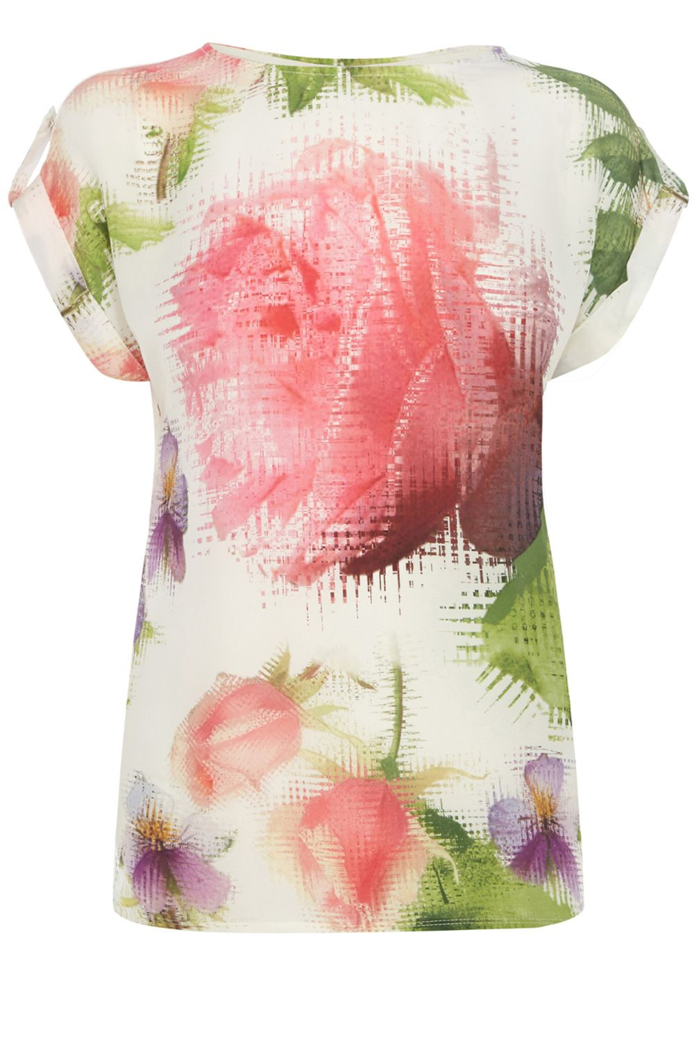 Placement floral t-shirt
