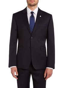Timeless slim fit solid suit jacket