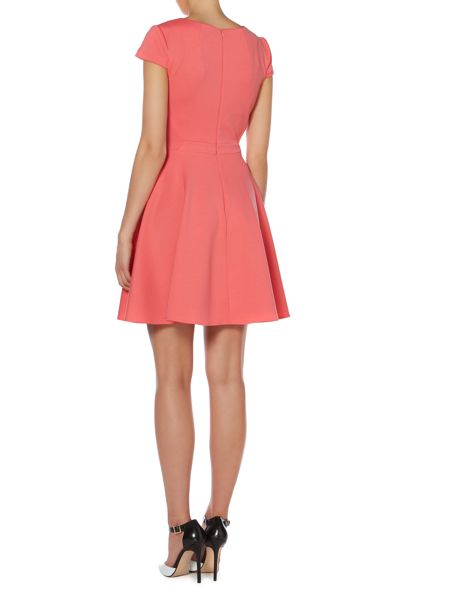 Untold Scuba fit and flare dress