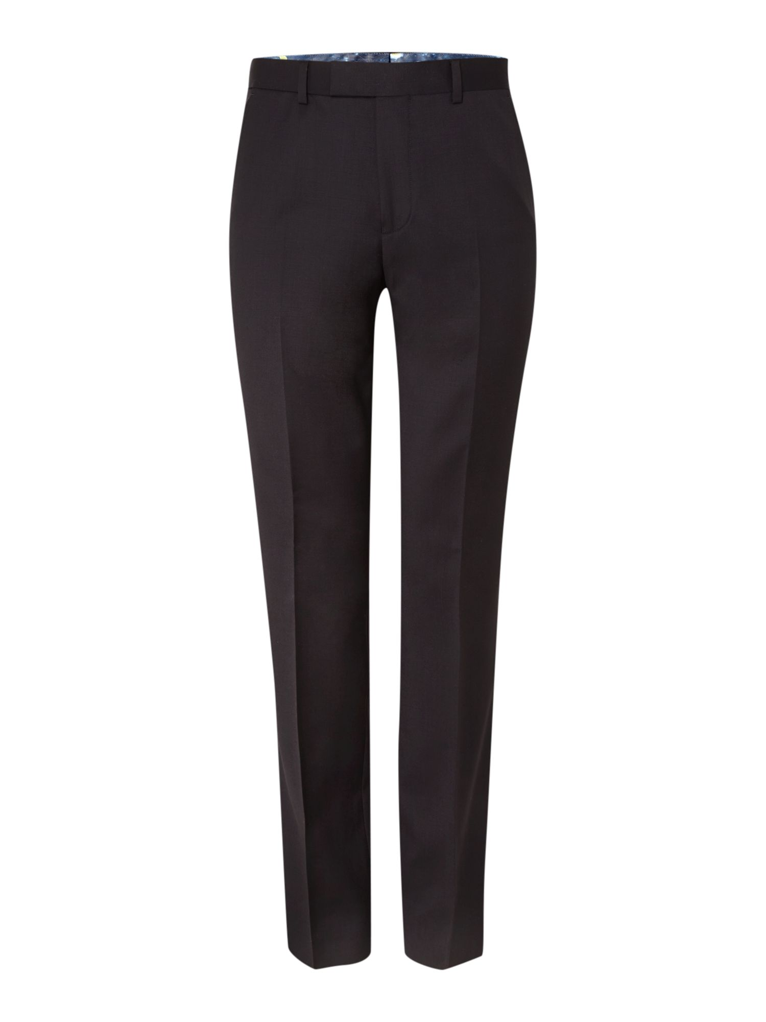 Mens Ted Baker Timeless Slim Fit Solid Suit Trousers Black