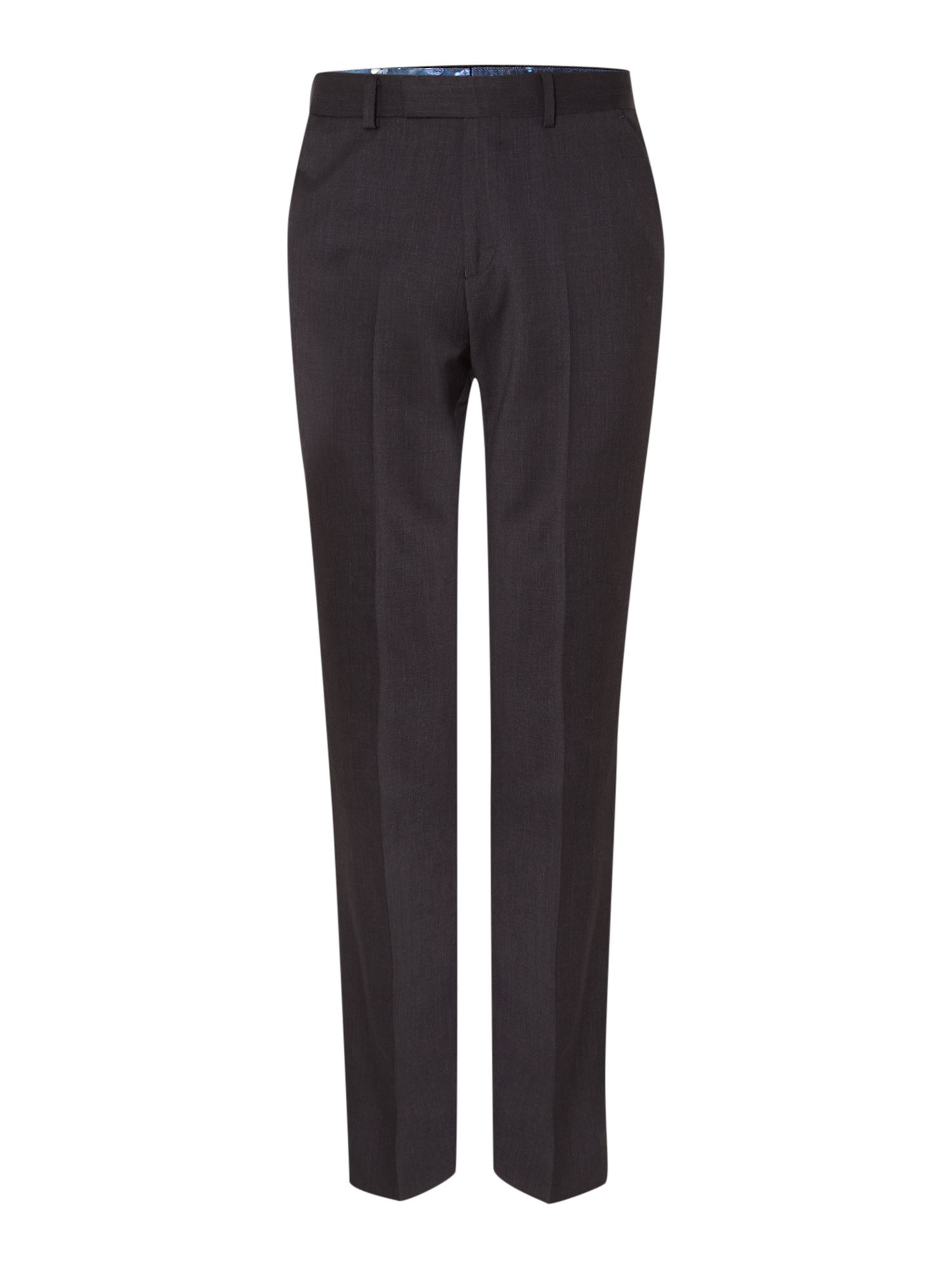 Timeless slim fit solid suit trouser
