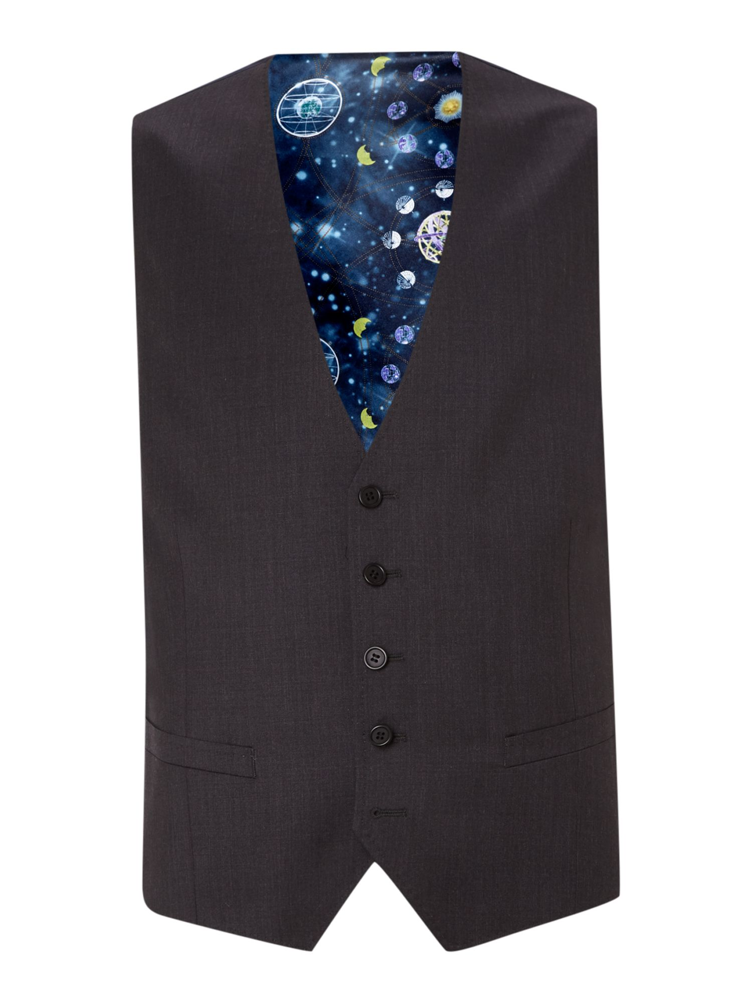 Timeless slim fit solid waistcoat