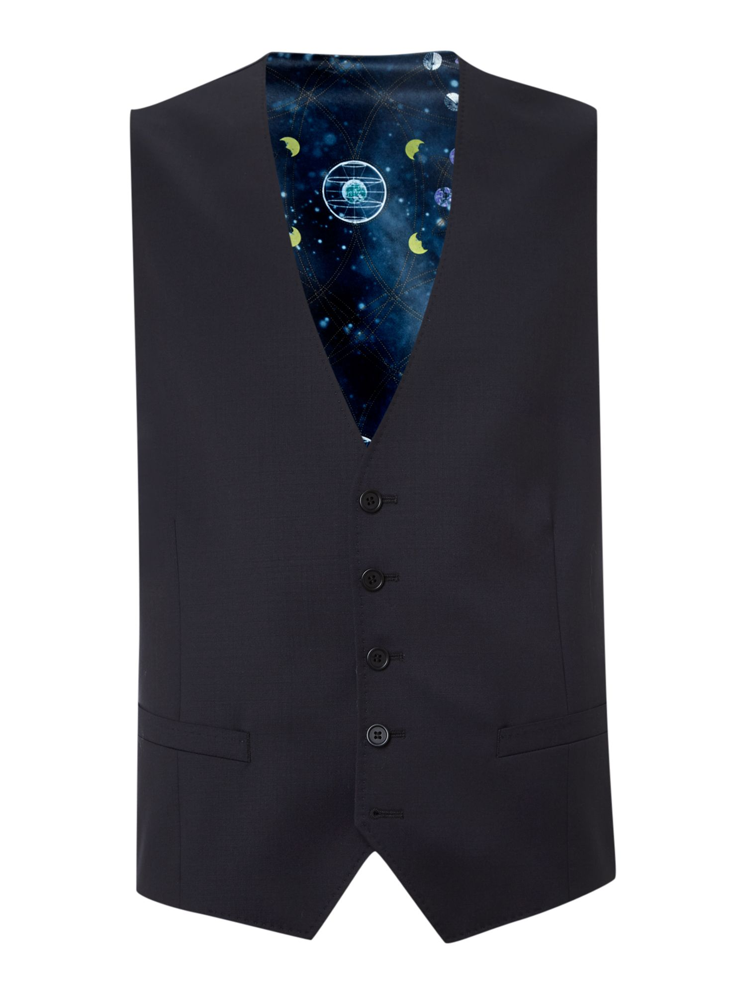 Mens Ted Baker Timeless Slim Fit Solid Waistcoat Navy