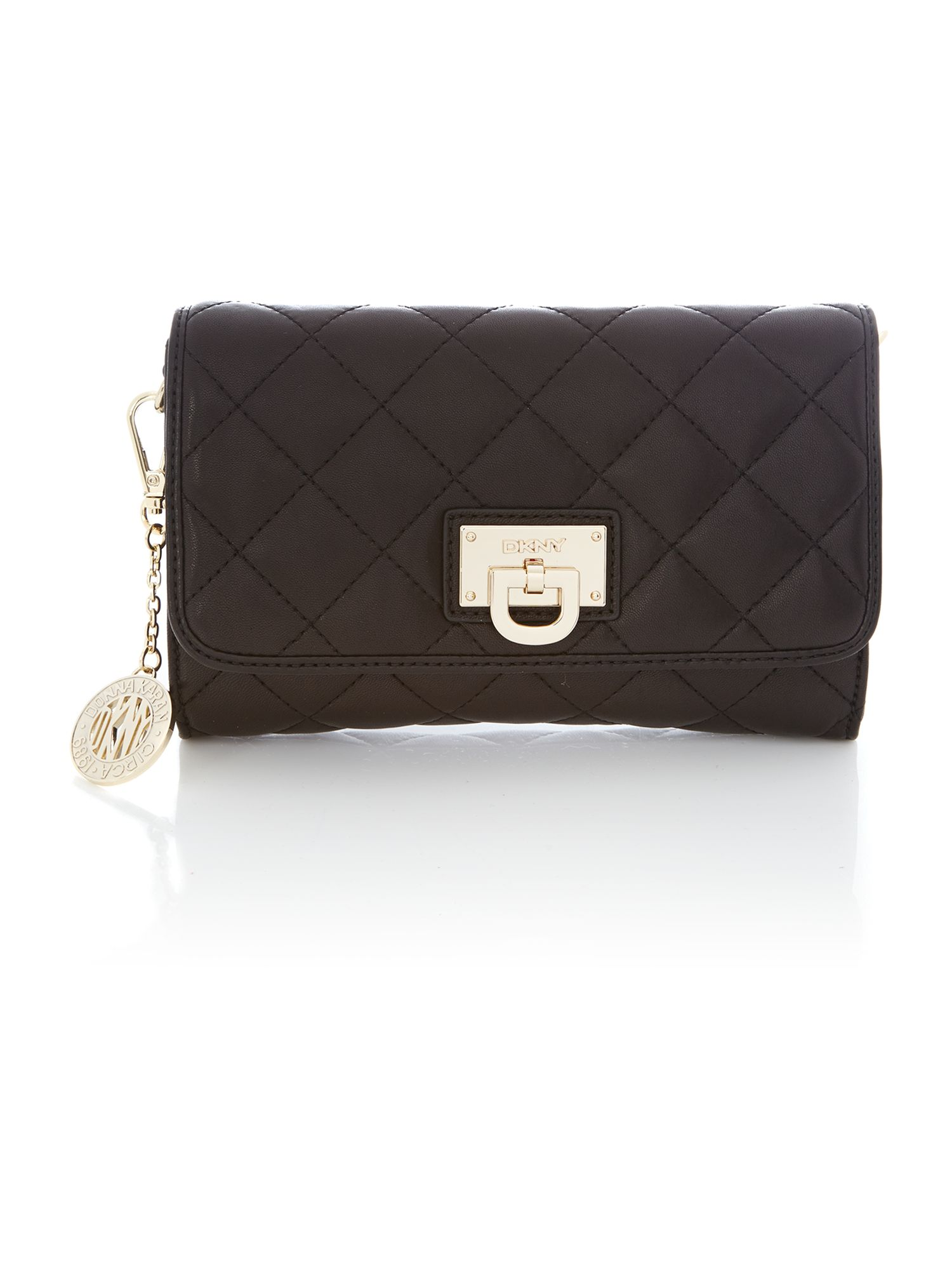 Gainsvoort black small flap crossbody