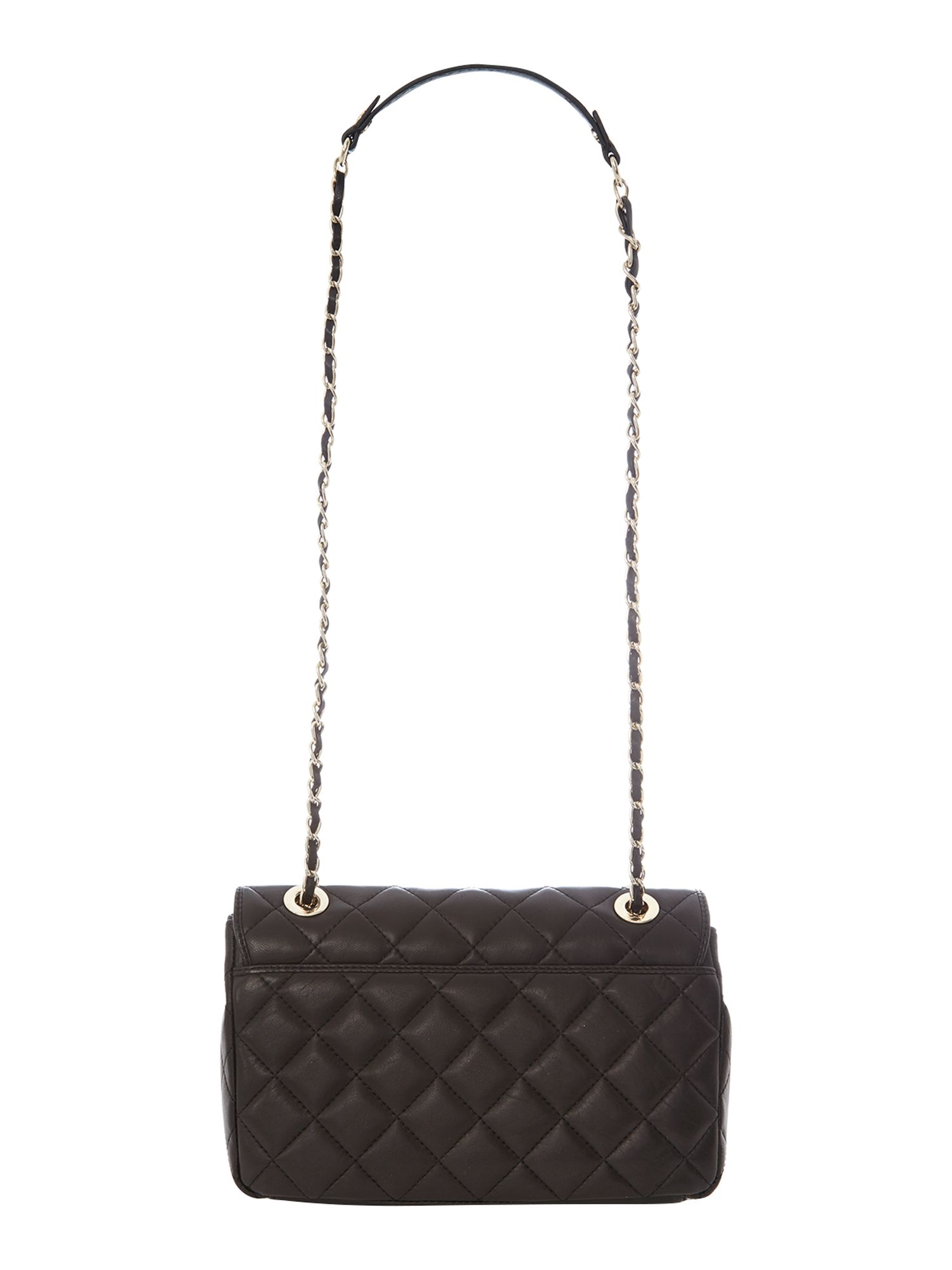 Gainsvoort black medium flap crossbody