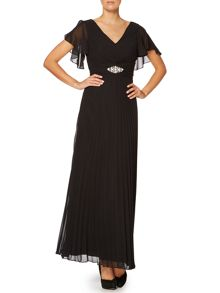 Ariella Flutter sleeve maxi dress