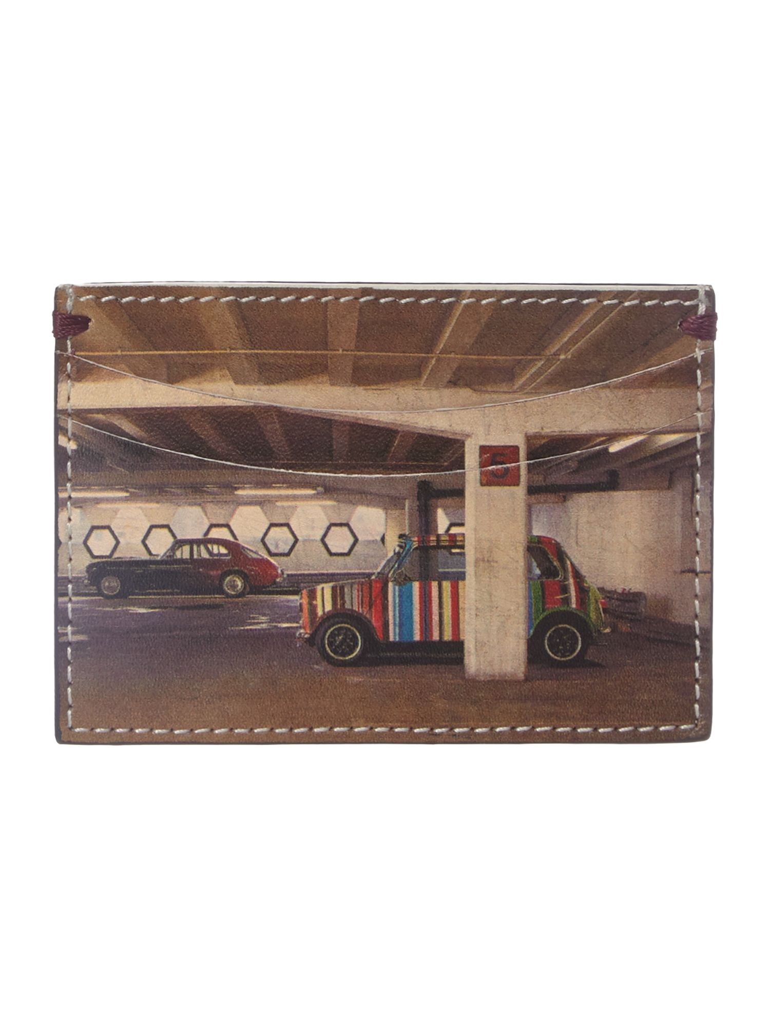 Mini car in car park card holder