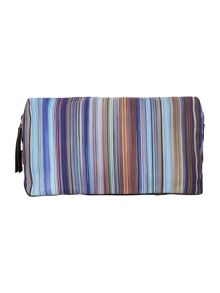 Multistripe washbag
