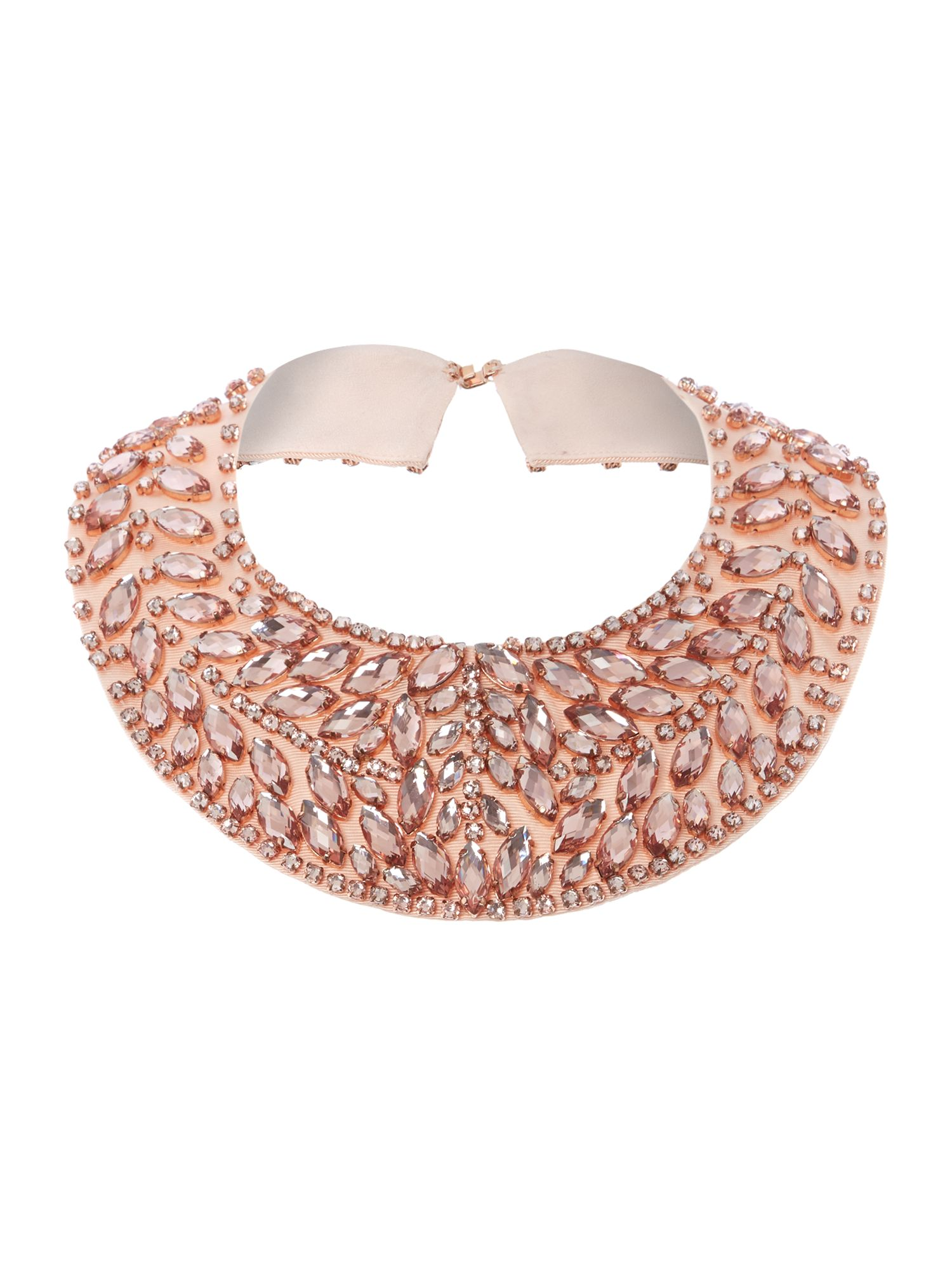 Large cluster beaded collar