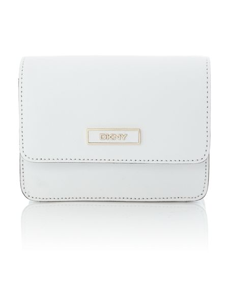 DKNY Saffiano white mini crossbody