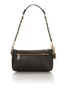 Saffiano black small crossbody