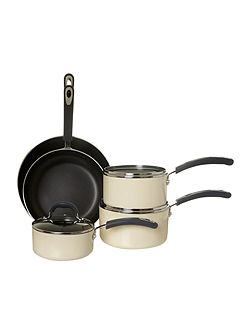 Principle cream four piece pan set