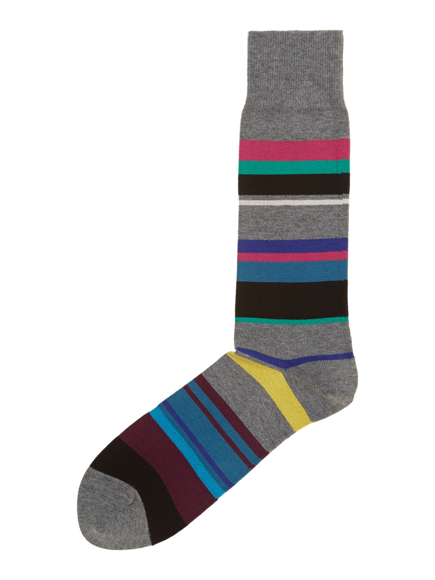 Melange stripe sock