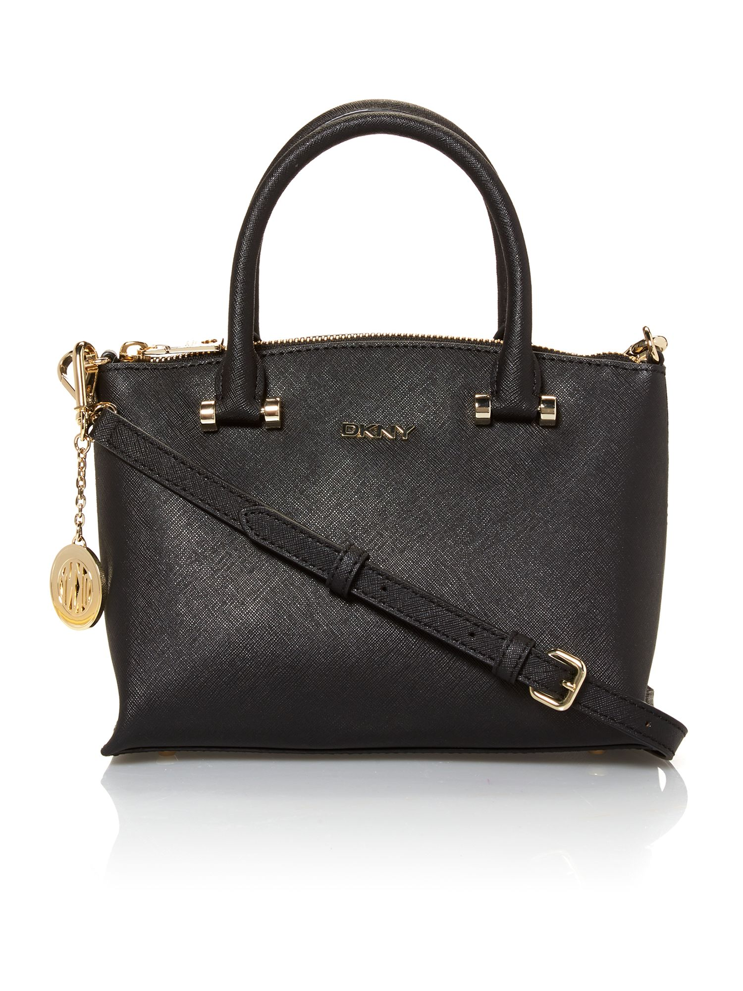 Saffiano black mini tote bag
