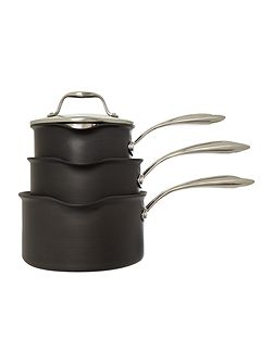 Excellence three piece saucepan set
