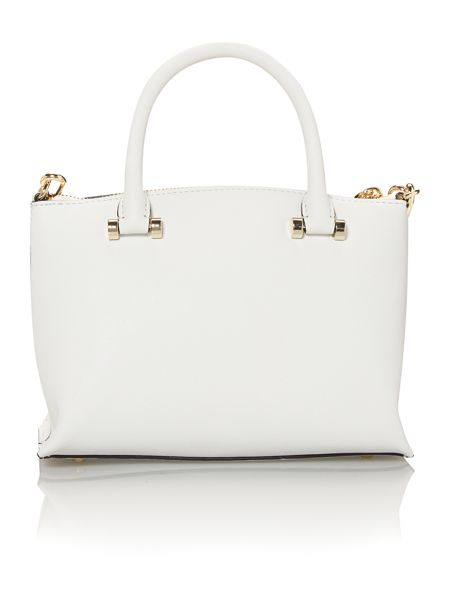 DKNY Saffiano white mini tote bag