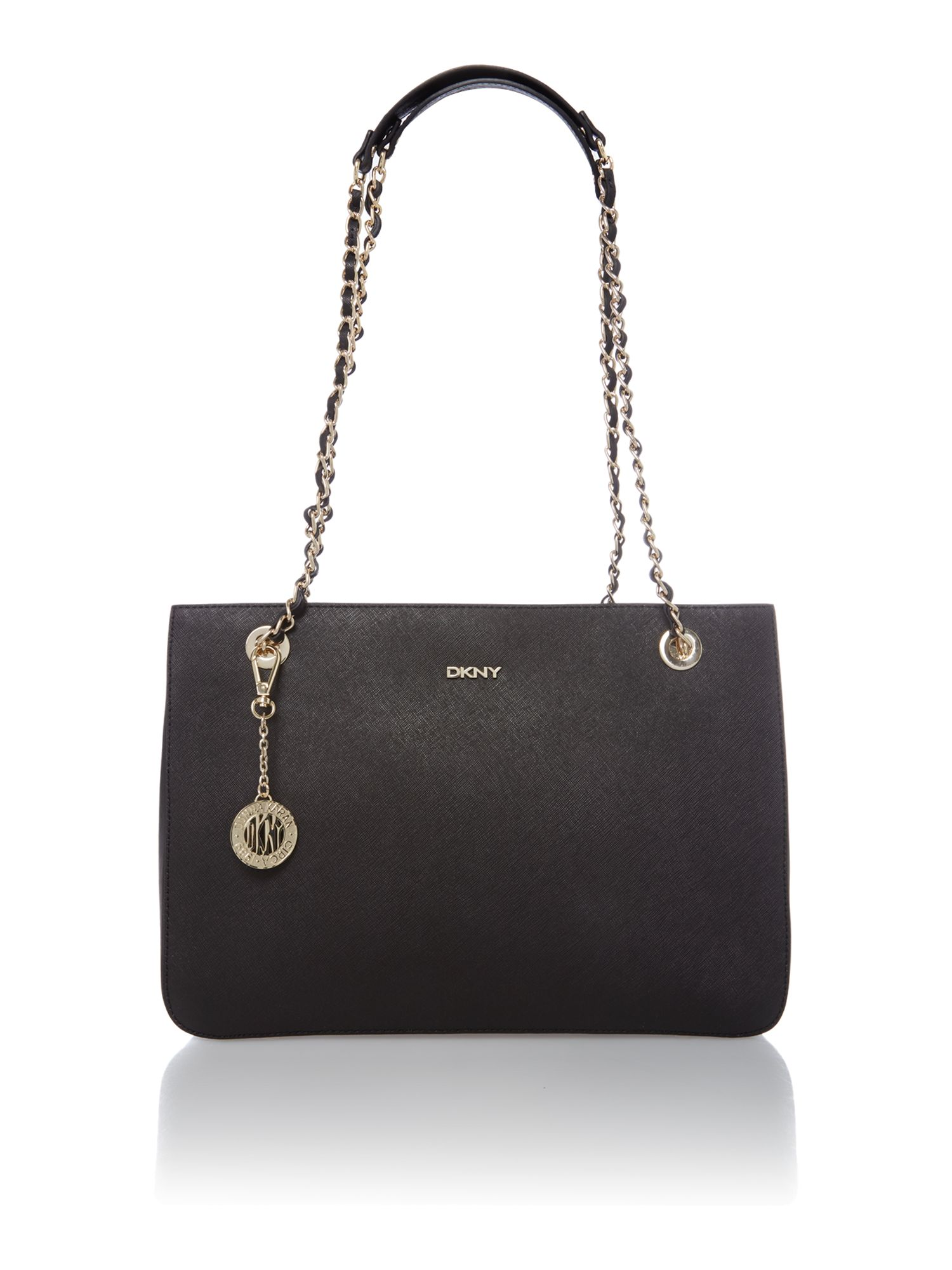 Saffiano black medium tote bag