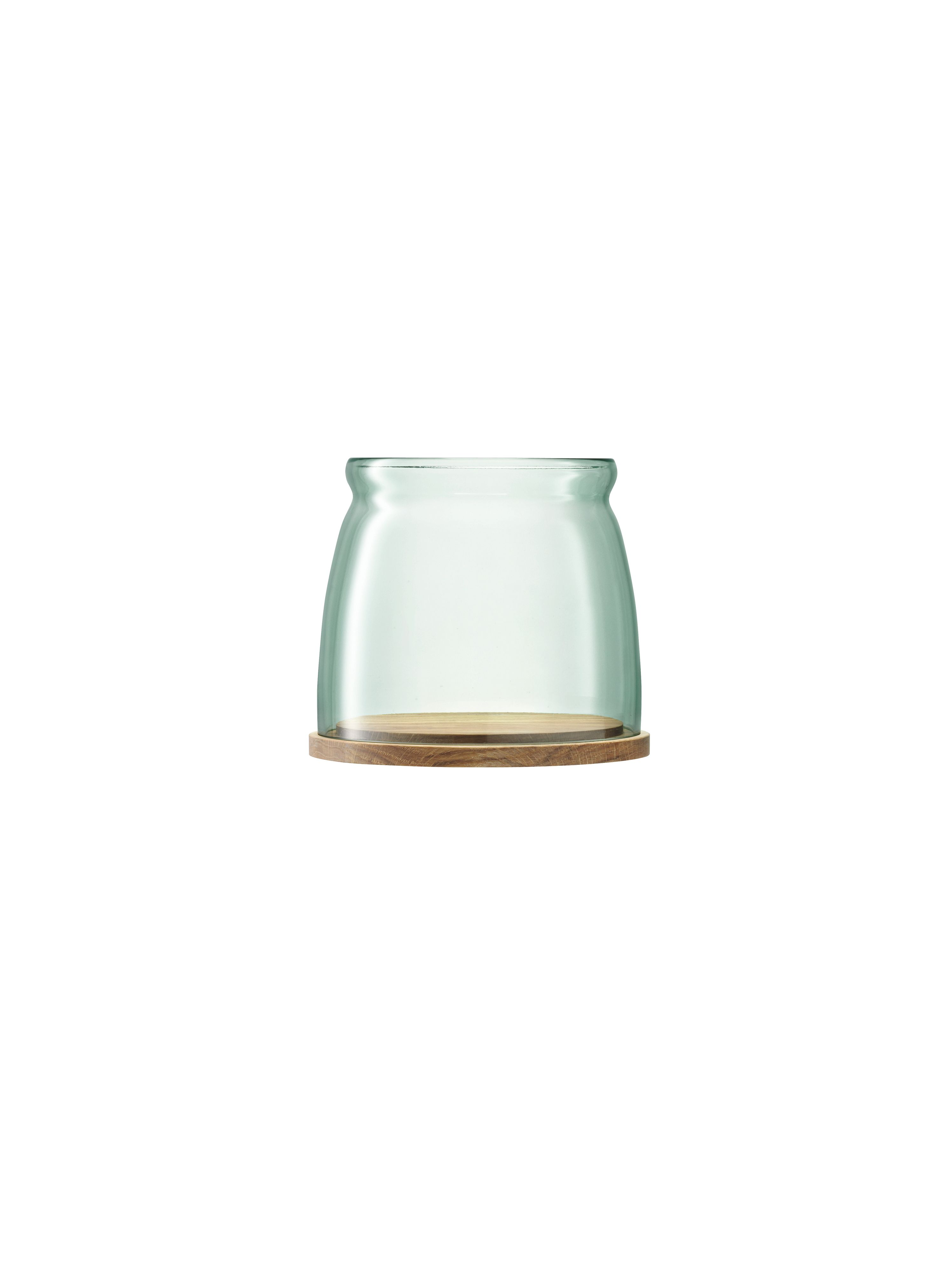 Firo Storm Lantern H18cm  & Oak Base recycled