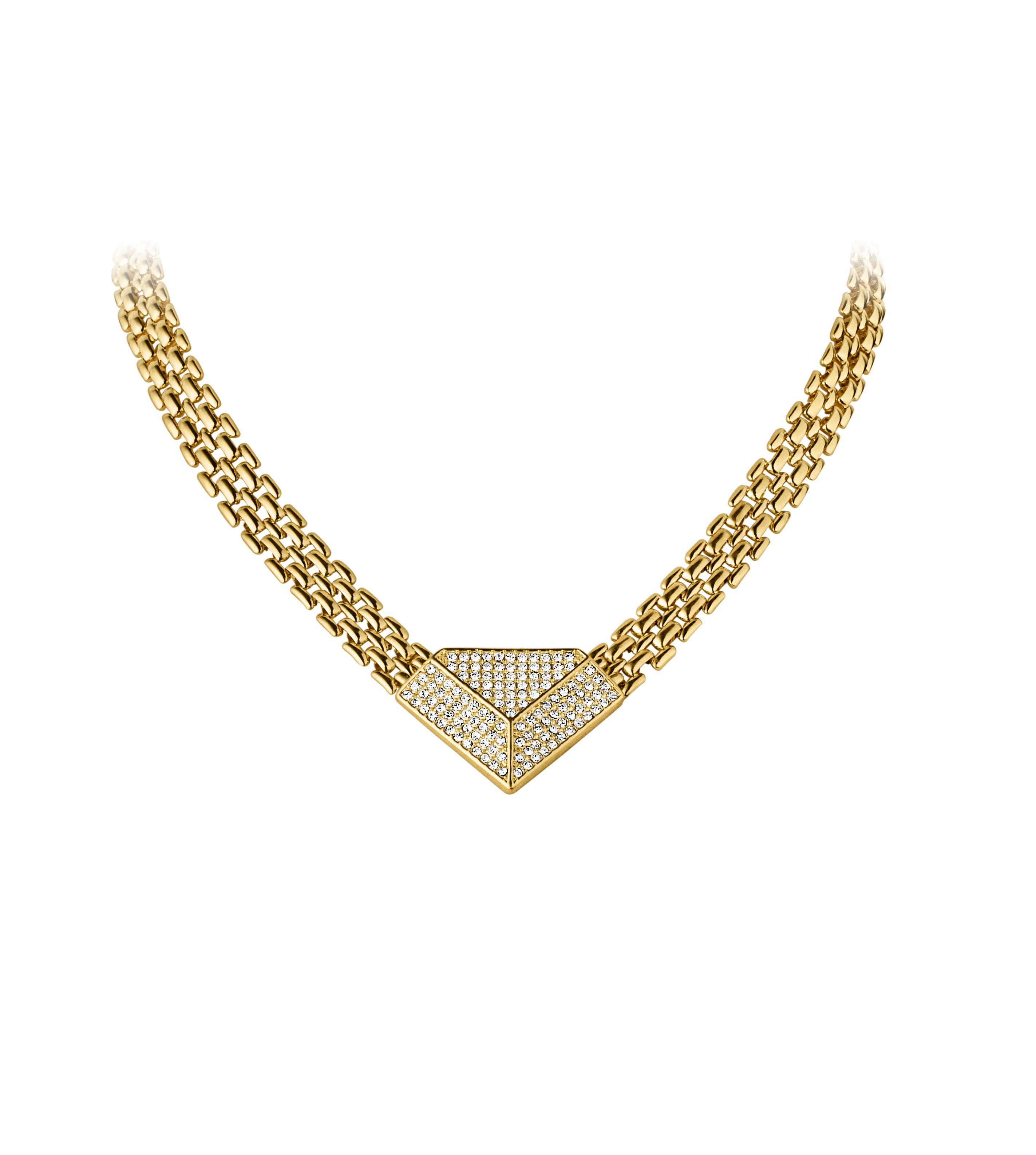 Anubis shiny gold necklace