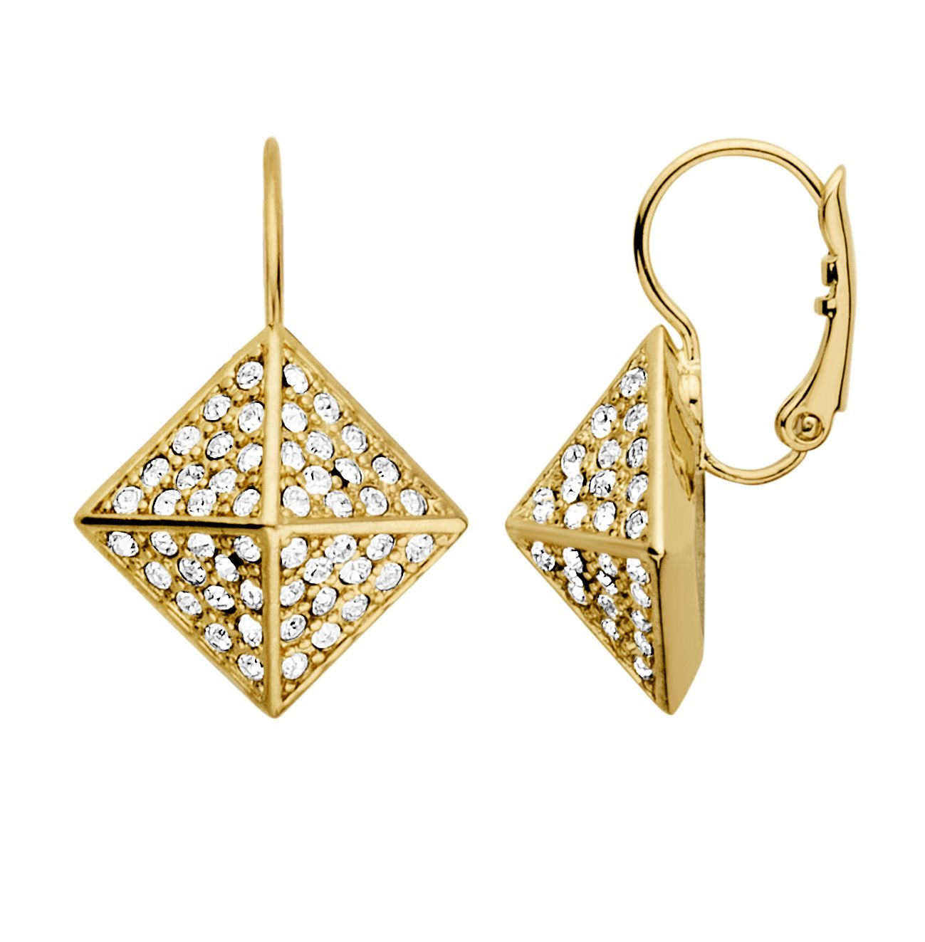 Kalfani shiny gold earrings