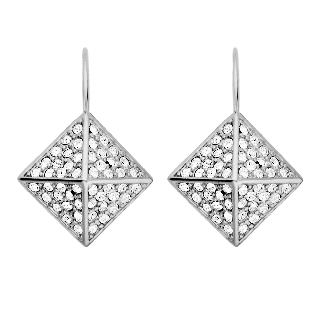 Kalfani shiny silver earrings