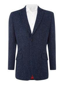 Callum regular fit tweed herringbone blazer
