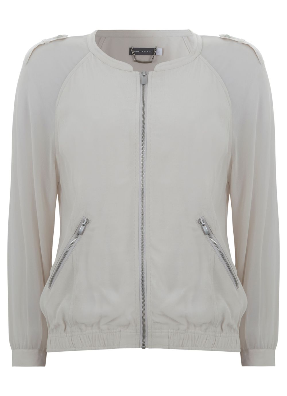 Georgette bomber jacket