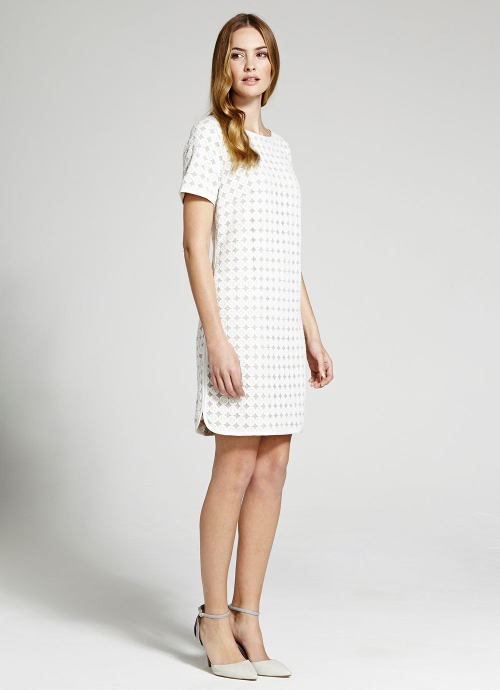 Circle lace shift dress