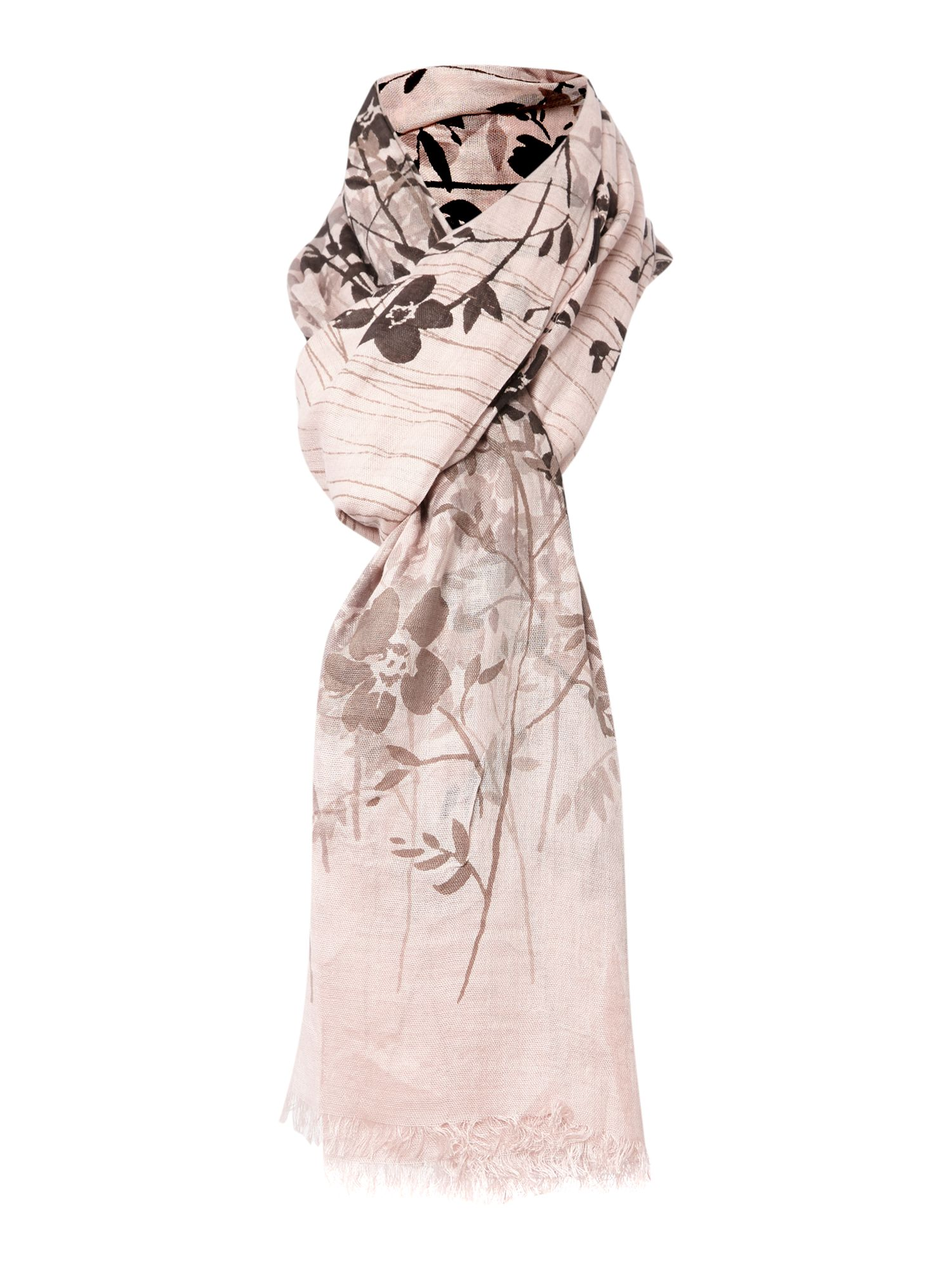 Criss cross field flowers viscose scarf