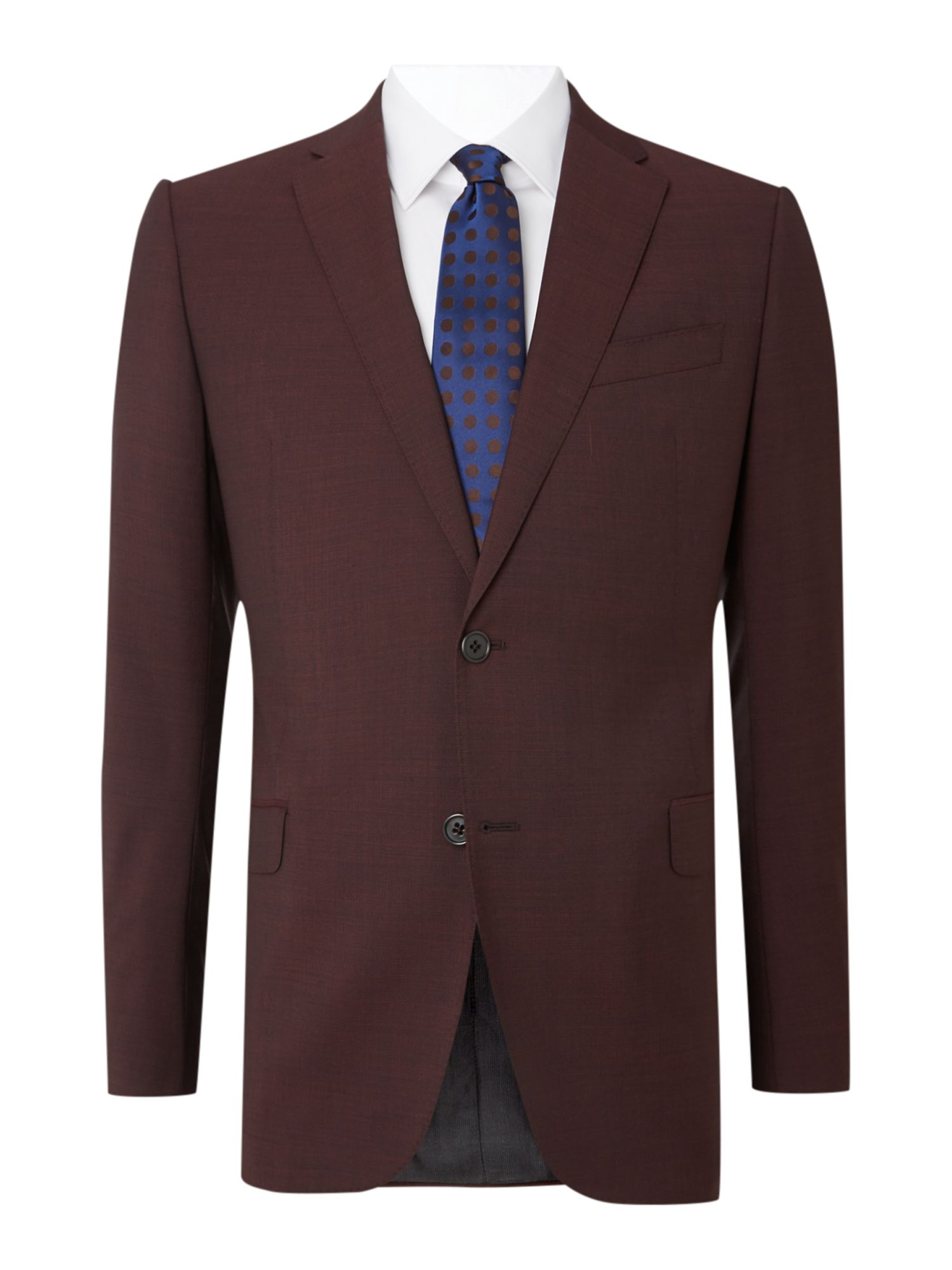 Metropolitan slim fit solid burgundy suit