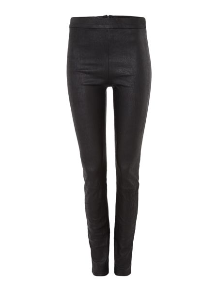 Hudson Jeans Evelyn skinny trouser in leather black iris