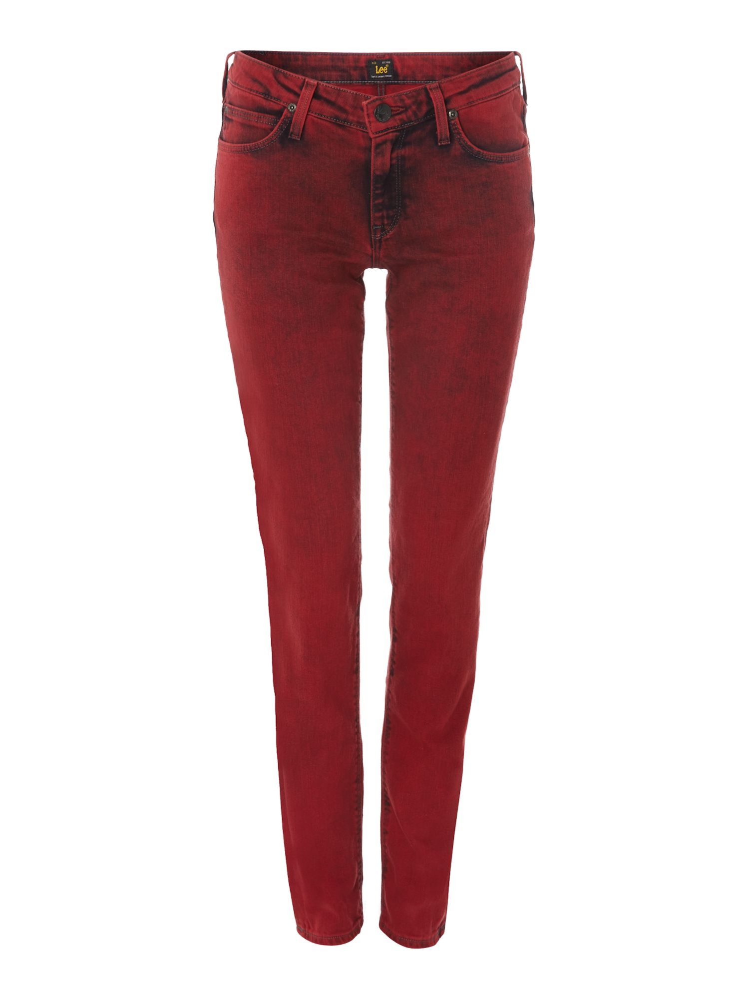 Scarlett skinny jean in red marbled