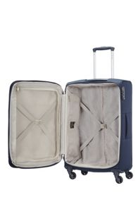Samsonite Base Hits navy blue 4 wheel medium case