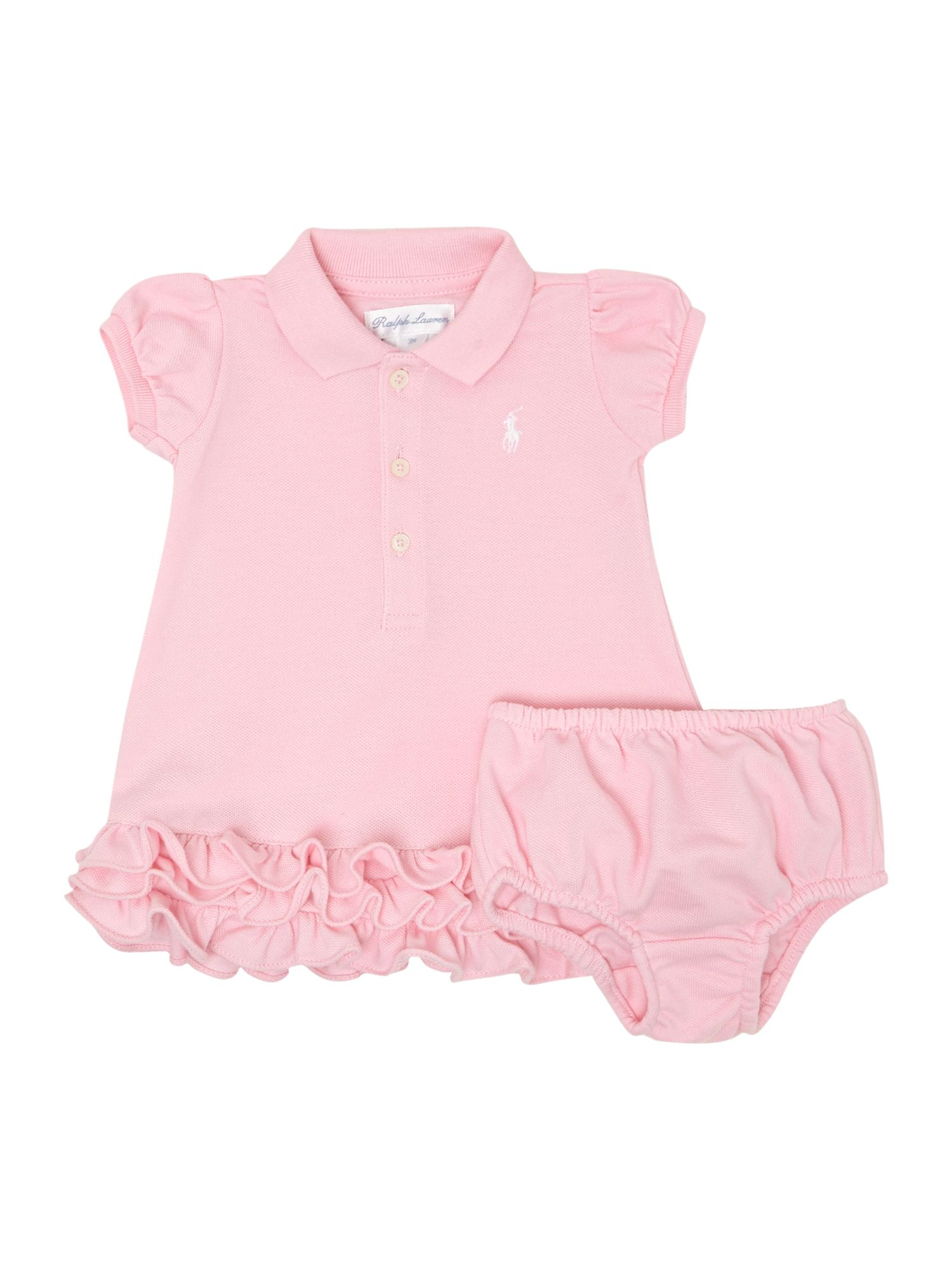 Baby girls polo ruffle hem dress