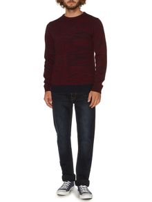 Hawsker space dye crew neck jumper