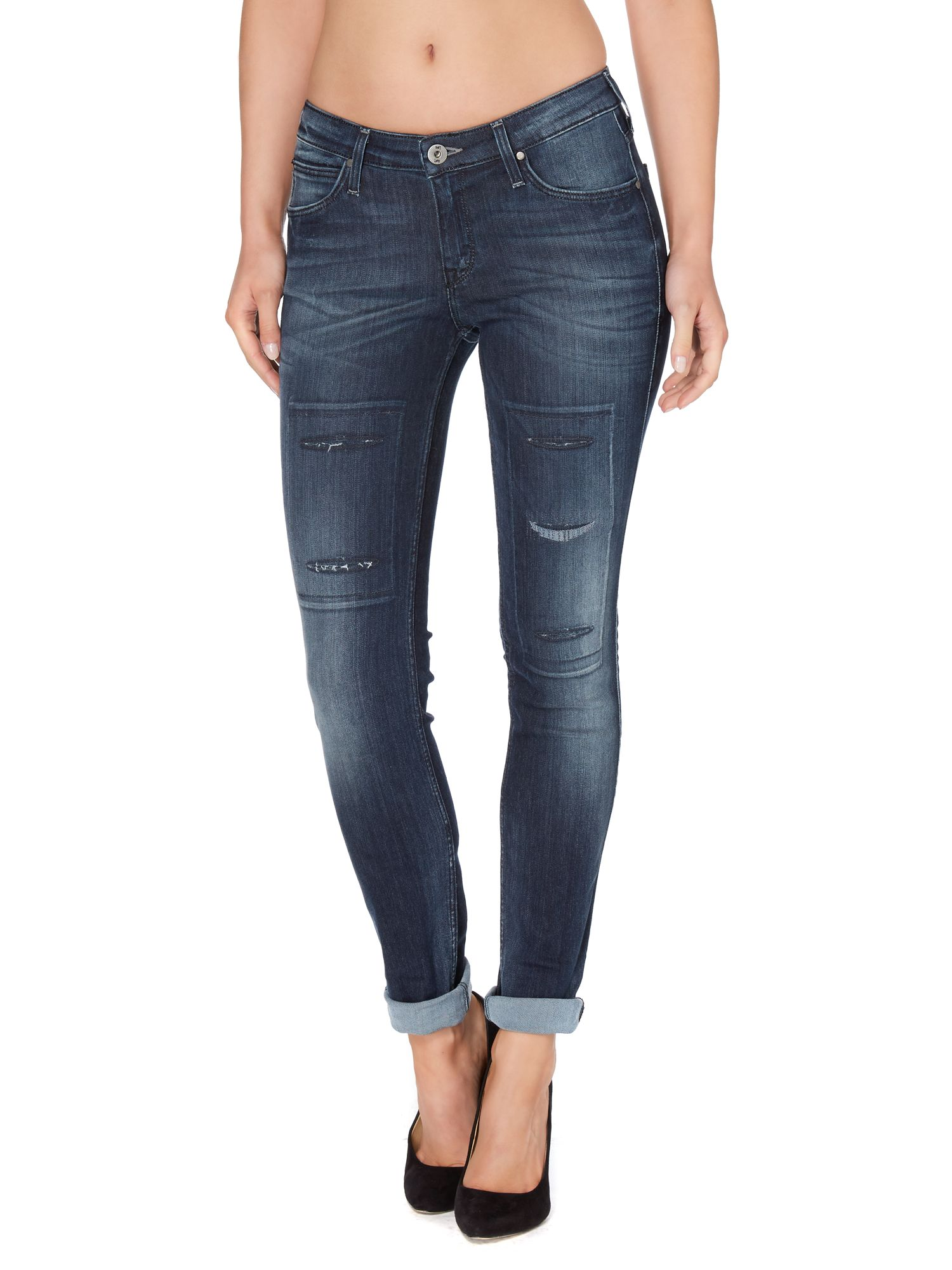 Scarlett skinny jean in sliced beauty