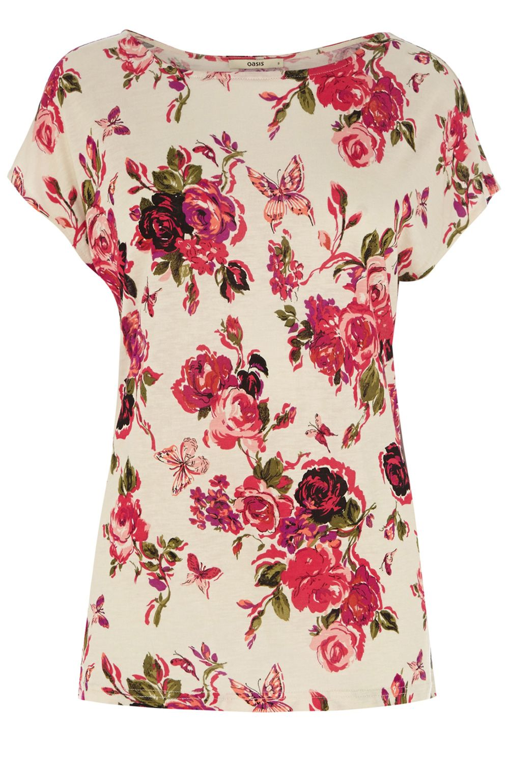 Divine rose printed t-shirt