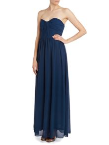 Bow pleat maxi dress