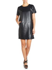 Jamie leather dress