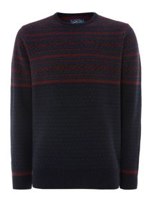 Beckhole fairisle panel jumper
