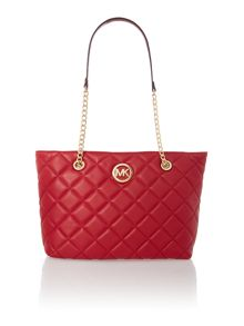 Fulton red quilt tote bag