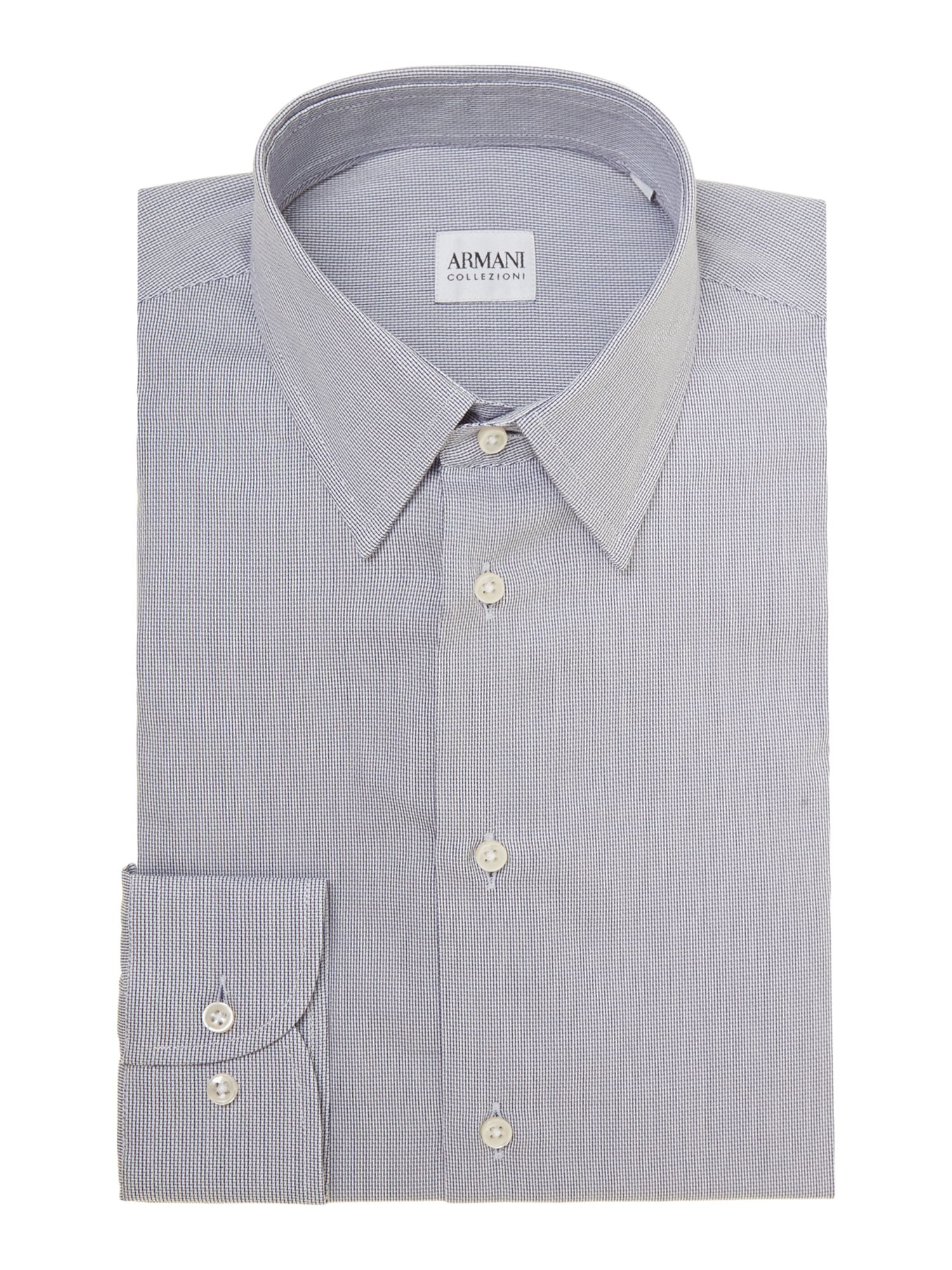 Stripe fleck regular fit shirt