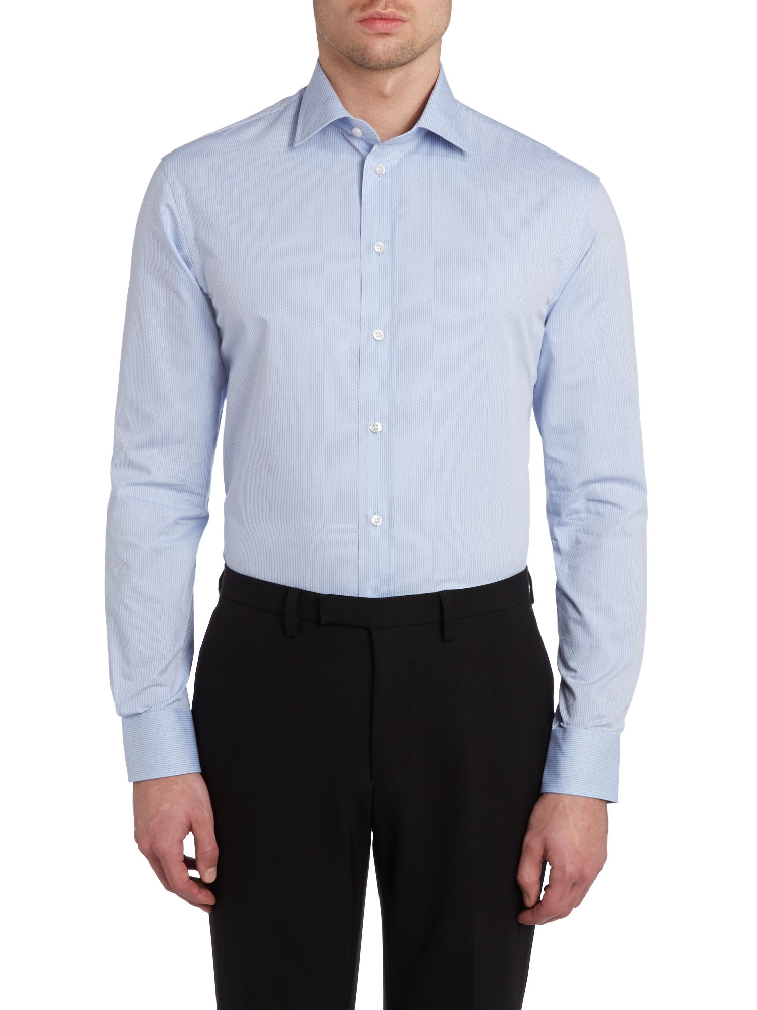 Self stripe regular fit shirt